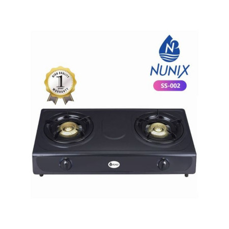 Nunix Table Top Gas Cooker Stainless Steel Black