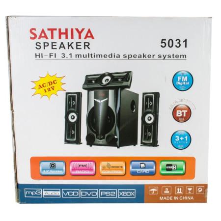 Sathiya 3.1 Subwoofer System-Bluetooth,FM,USB,SD,AUX
