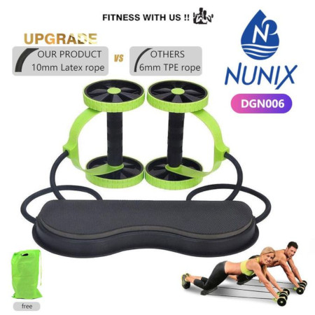 Nunix Abs Workout Rollers Six Pack, Flat Tummy