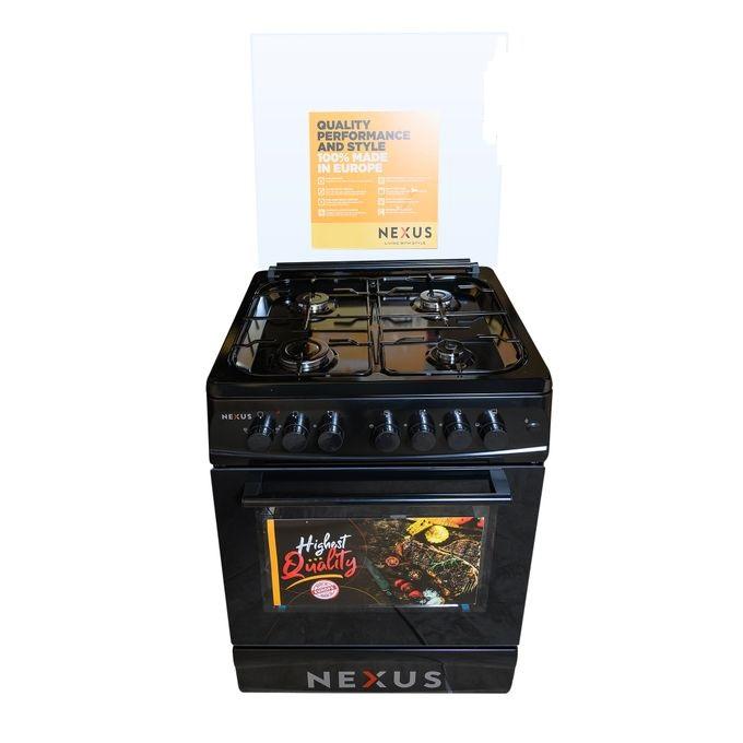 Nexus NXK-6001 (4+0), 4 Gas, Gas Oven - Black