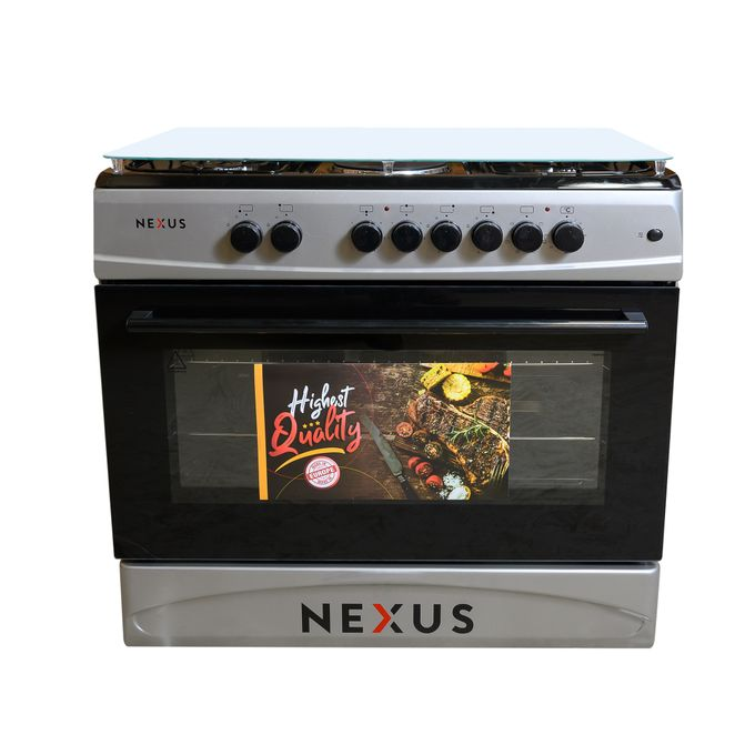 Nexus NXK 9000 4+2, 4 Gas + 2 Hot Plate, Electric Oven - Silver