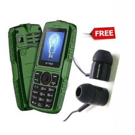 X Tigi S23 Mini, Radio, Torch, 2050mAh-Green+Earphones