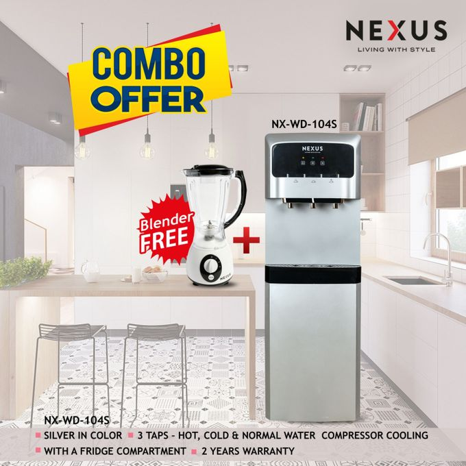 Nexus NX WD-104S, Hot,Cold & Normal Combo- Silver, Water Dispenser