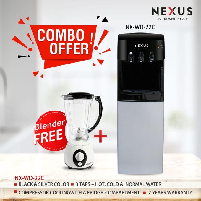Nexus NX WD-22C, Hot, Cold & Normal Combo - Black, Water Dispenser
