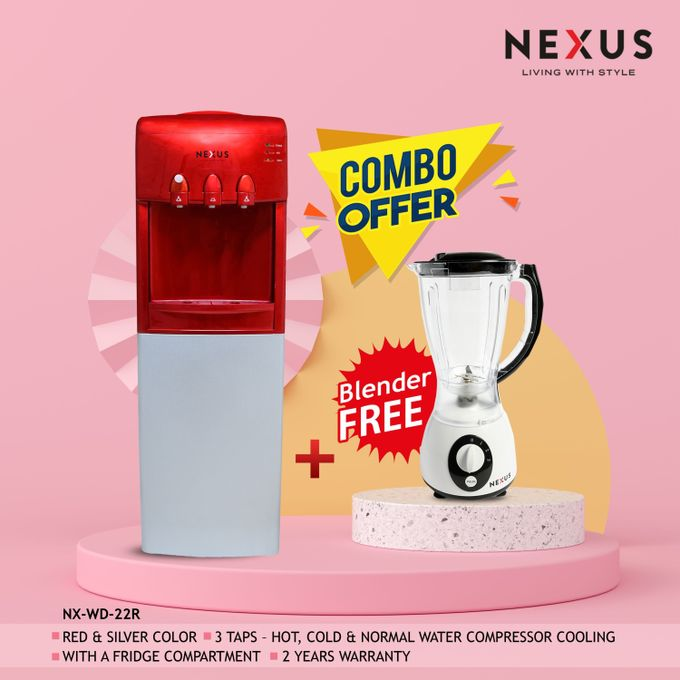 Nexus NX WD-22R, Hot, Cold & Normal Combo - RED, Water Dispenser