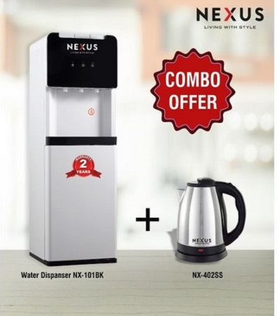 Nexus NX-101 BK, Hot & Cold & Normal - Black, Dispenser Combo