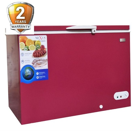 Nexus NX 400E Chest Freezer-Wine Red