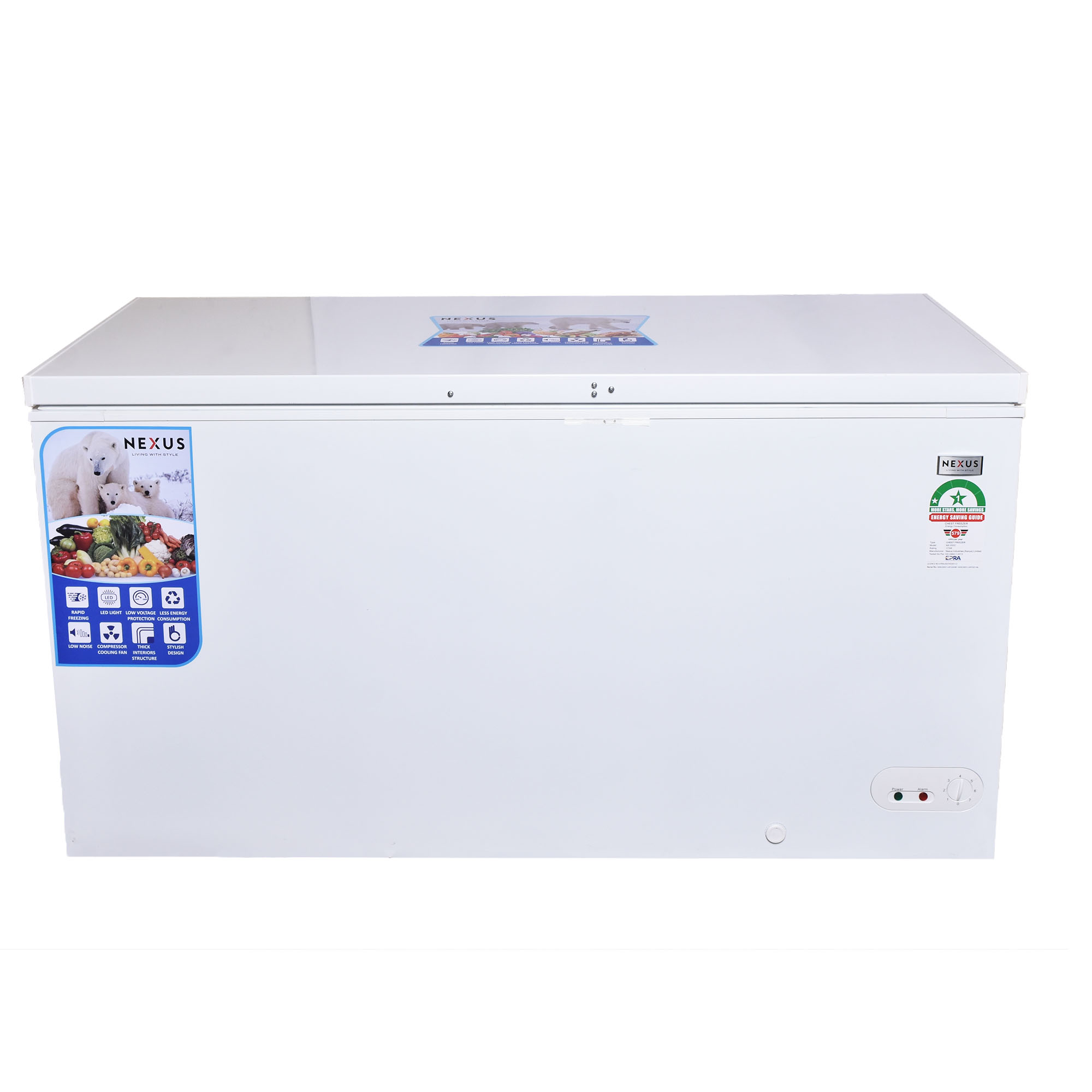 Nexus NX-550C - 459 Litres - Chest Freezer-White