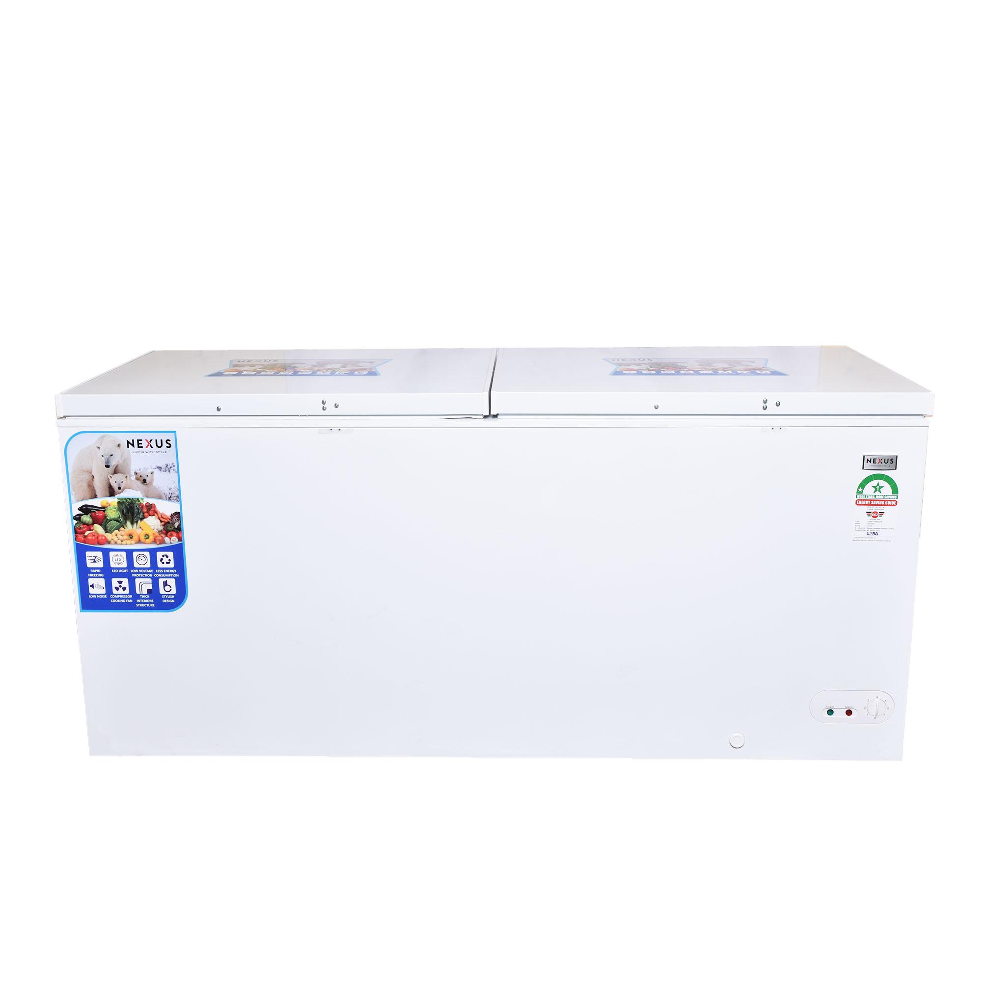 Nexus NX-695C - 560 Litres - Chest Freezer-White