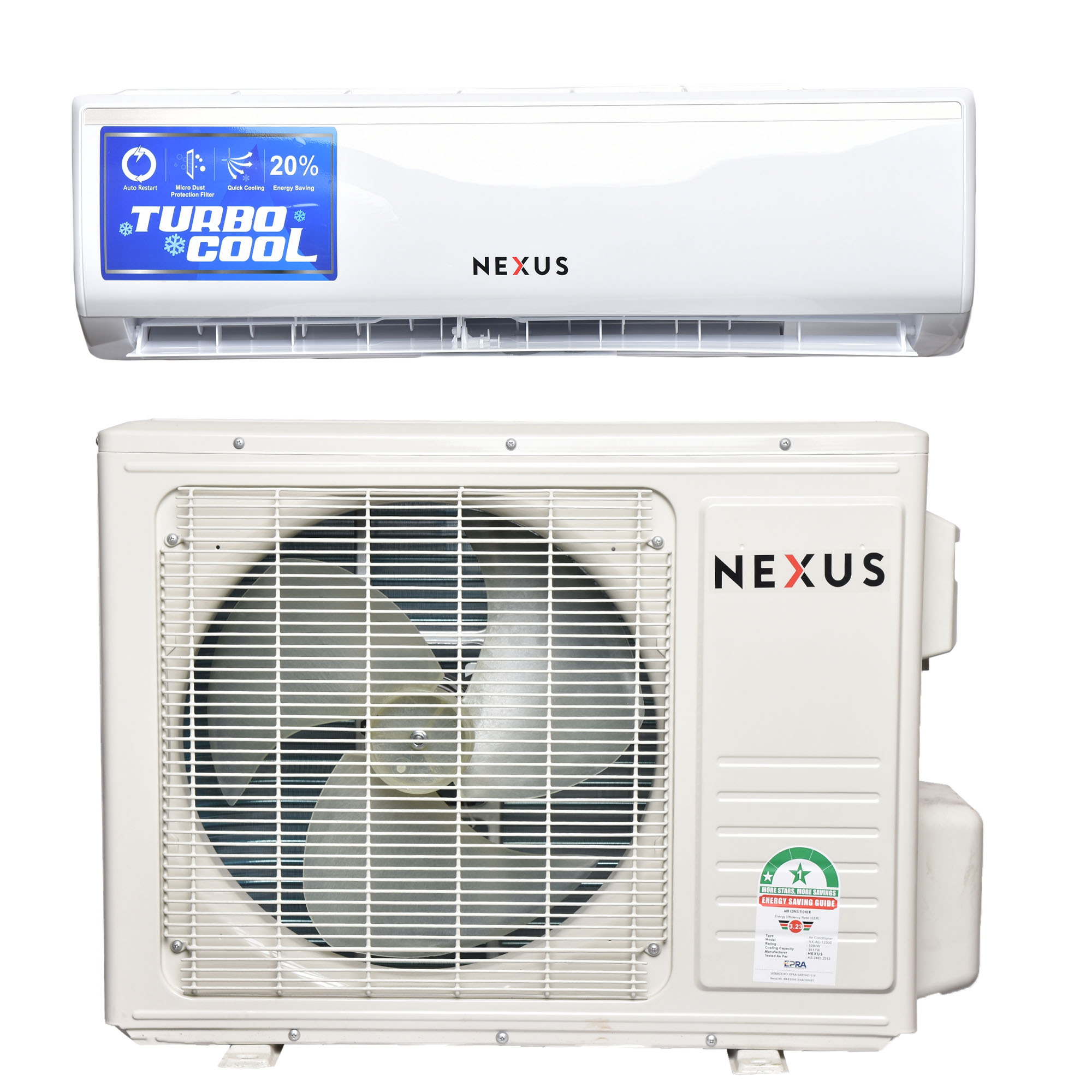Nexus NX-AC-12000, 12000BTU - Air Conditioner-White