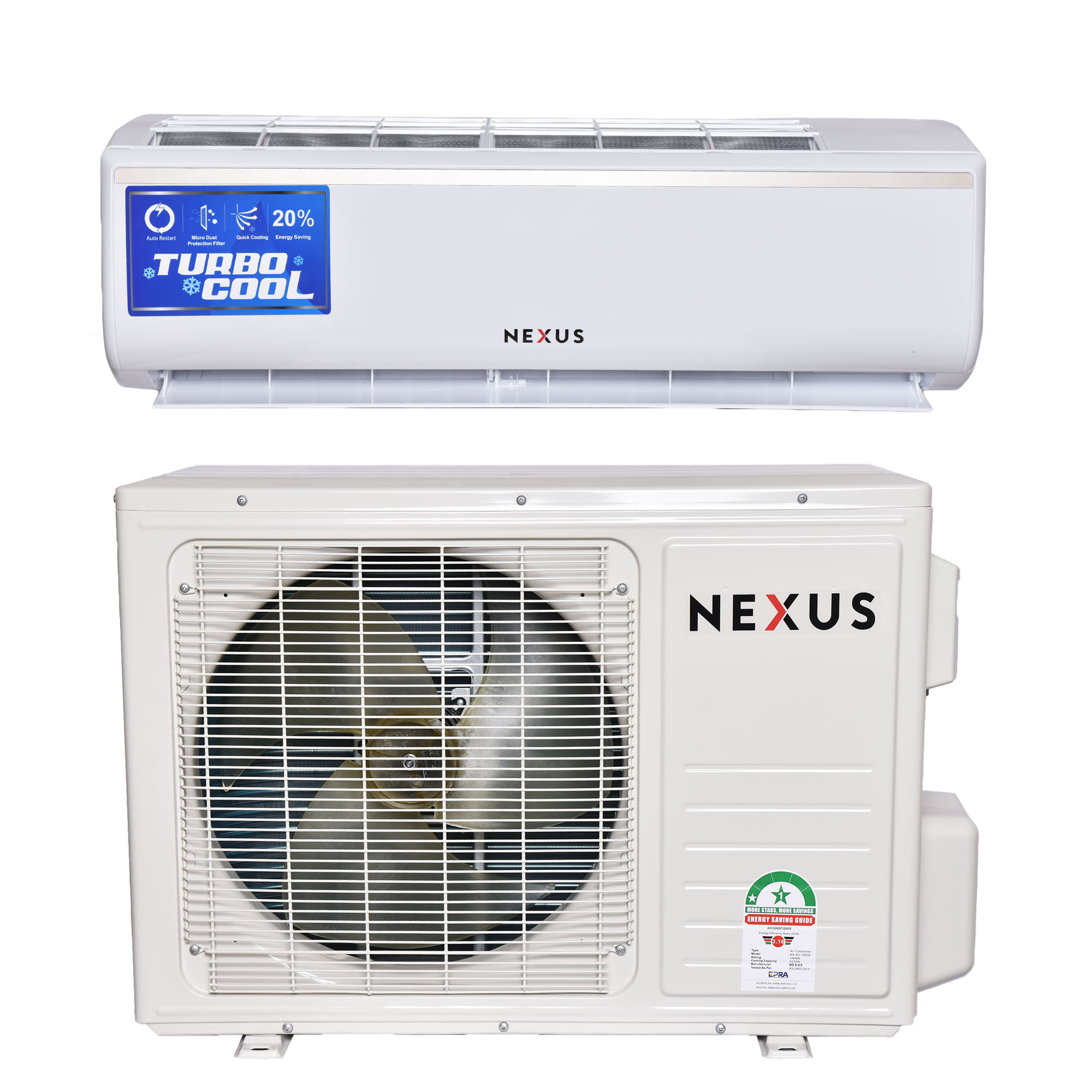 Nexus NX-AC-18000, 18000BTU- Air Conditioner-White