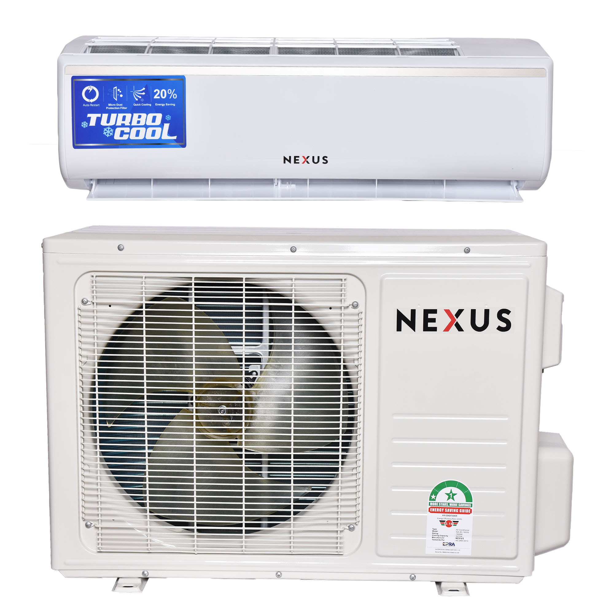 Nexus NX-AC-24000, 24000BTU - Air Conditioner-White
