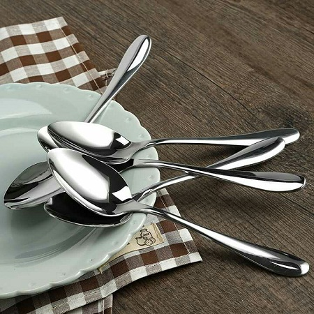 12 pieces stainless spoons