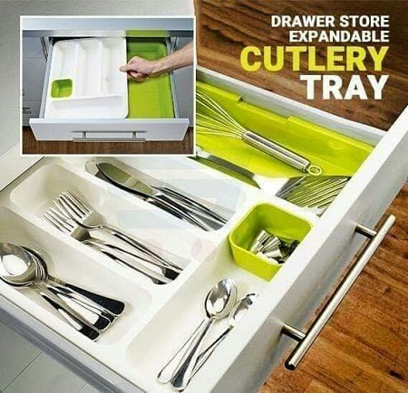 Expandable cutlery organizer