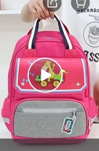 Kids School Bag - Pink