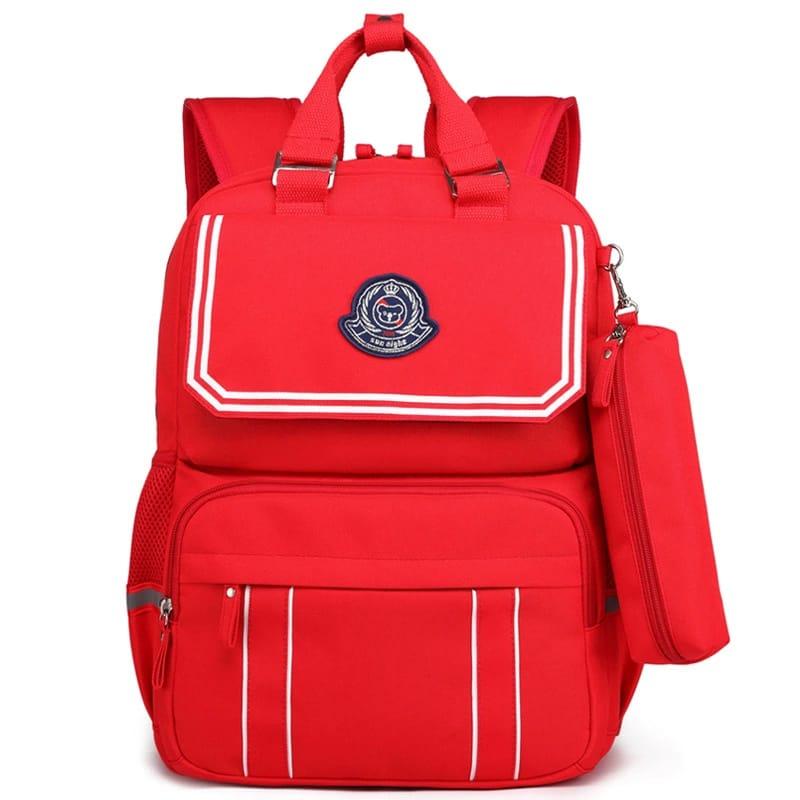 School Backpack Bag - Red