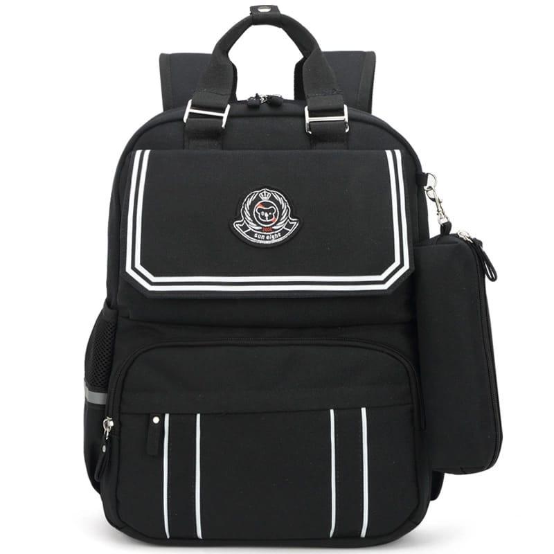 School Backpack Bag - Black