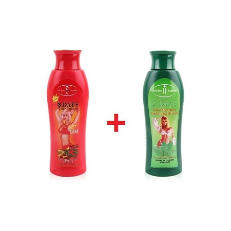Aichun AICHUN BEAUTY 3 Days Show Slimming Pack - Hot Long Chilli and Ginger Slimming Cream (200ml) and Green Tea Slimming Cream( 200 ml )