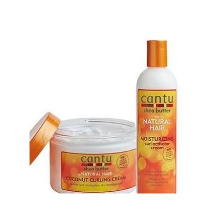 Cantu Coconut Curling Cream + Moisturizing Curl Activator Cream.