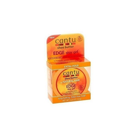 Cantu Natural Hair Extra Hold Edge Stay Gel - (64 g).