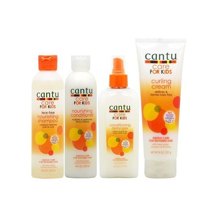Cantu Care for Kids Shampoo + Conditioner + Detangler + Curling Cream Set