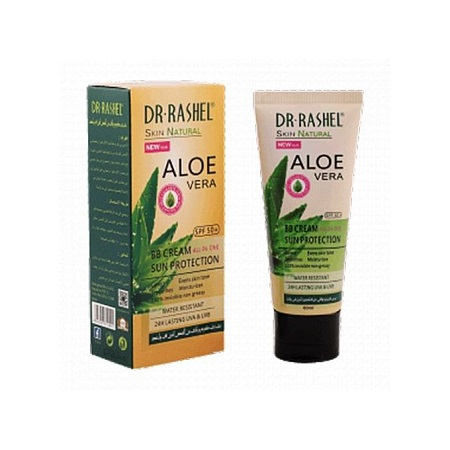Dr. Rashel DR.RASHEL Aloe Vera Blemish Balm Sunscreen Cream Lasting UVA UVB Sun Protection Smooth Moisturize Invisible SPF 50 Sunblock Water Resistant Skin Natural All-In-One With SPF50+ Sun Screen Sun Block