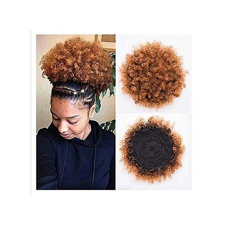 Fashion Afro Hair Bun Extension Colour Brown+ FREE GIFT