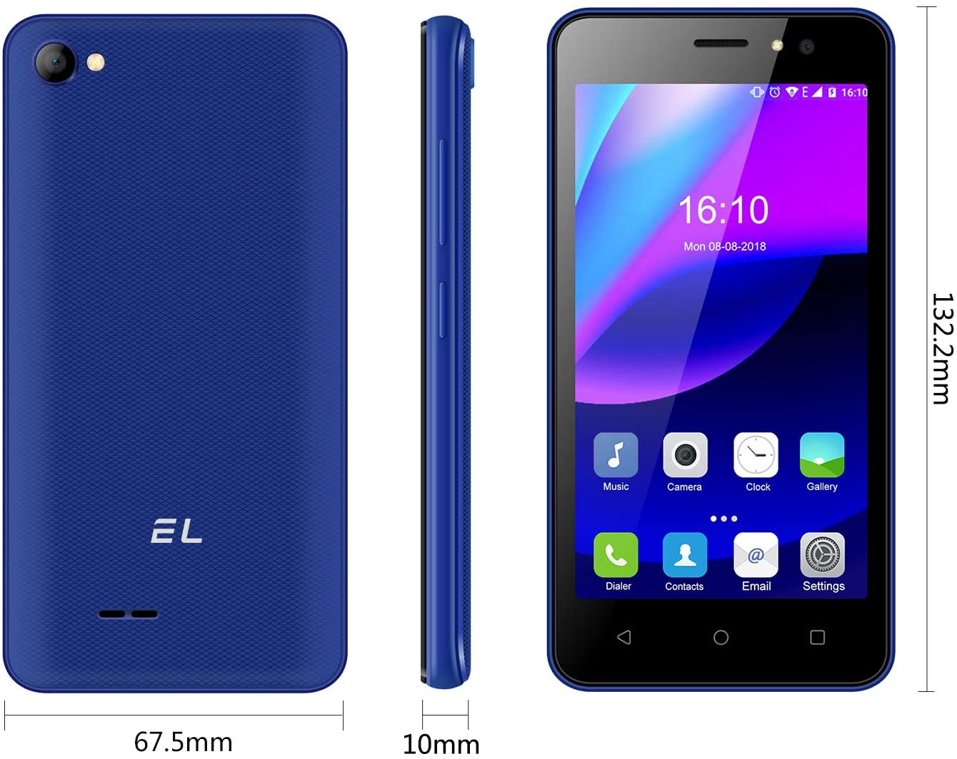 4.5inch ,512MP + 4GB, Clear Camera +2MP Selfie,Dual Sim