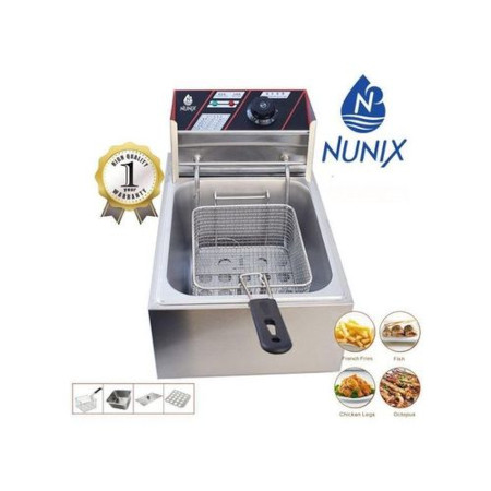 Nunix Powerful Stainless Steel Electric Deep Frier 6 Litres