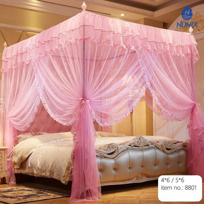 Nunix Princess Mosquito Net With Metallic Stand 5*6