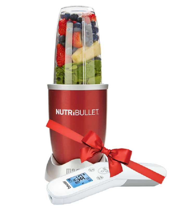 NutriBullet NBR-1212R Red 12 Piece Set + Get Free Beurer FT 85 Non-Contact Thermometer