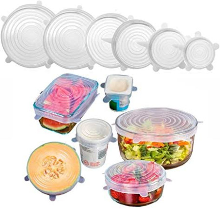 6pcs set silicon food covers