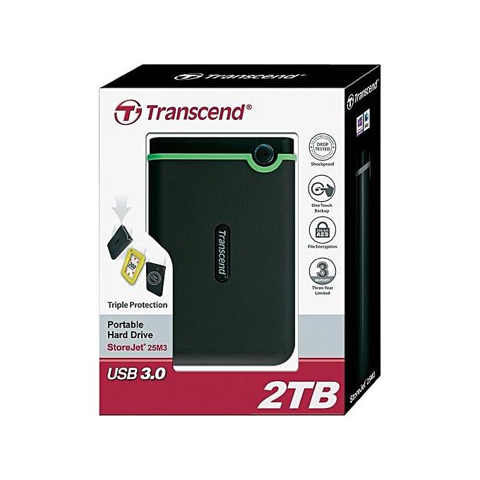 TRANSCEND External Hard Disk Drive USB 3.0 - 2TB - purple