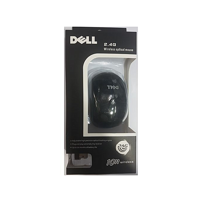 Dell Wireless Mouse 2.4GHz - Black- Comfortable and Easy to use