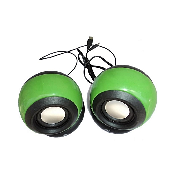 Philex Multimedia Speakers - 2.0 USB - Green..