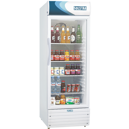 SOLSTAR Display Beverage Vertical Cooler - Single Door - VC 3300-WHB