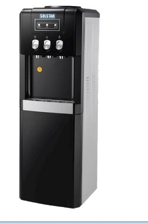 SOLSTAR Hot, Cold & Normal Water Dispenser with 12L Cabinte – Black Colour