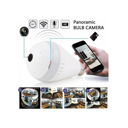 Panorama Nanny Bulb Camera With WIFI + 16GB Free Memory card. Digital