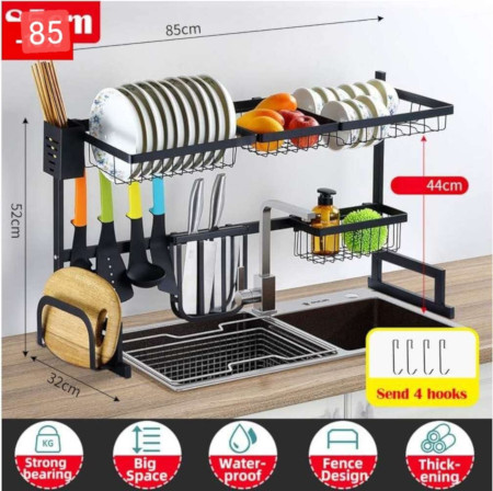 Over Sink Dish Drying Rack Drainer Shelf For Kitchen Counter Organizer