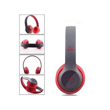 P47 Bluetooth Headphone Wireless Headset Foldable Stereo Earphones Headband Handsfree With Mic Support TF Card FM Radio