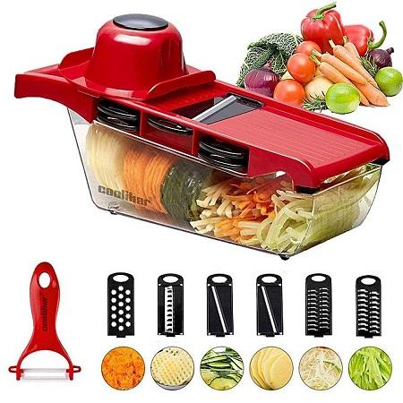 Generic 6 in 1 Multi purpose vegetable & Fruit slicer/peeler