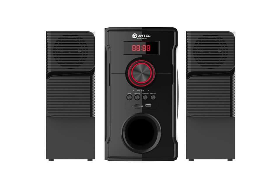 Amtec 2.1 Subwoofer Sound System-with BT/FM/USB-8000W