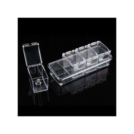Crystal Four Cylinder Seasoning Box