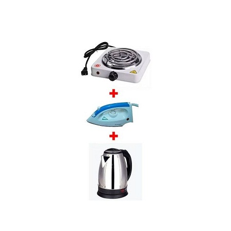 Electric Cooker + Steam Iron Box + Electric Kettle