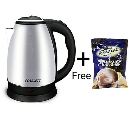 Electric Kettle 2L + one 100g Drinking chocolate