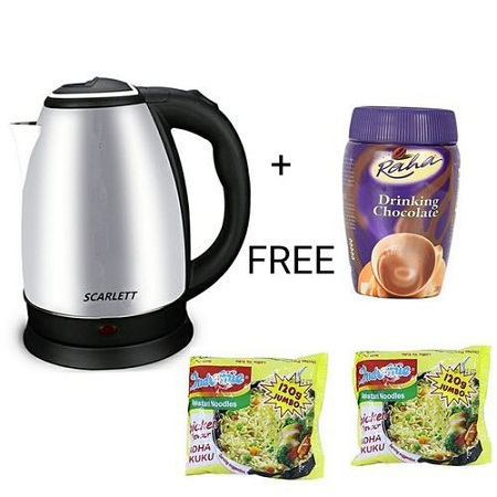Electric Kettle 2L + TWO 120g noodles (BEEF FLAVOUR)