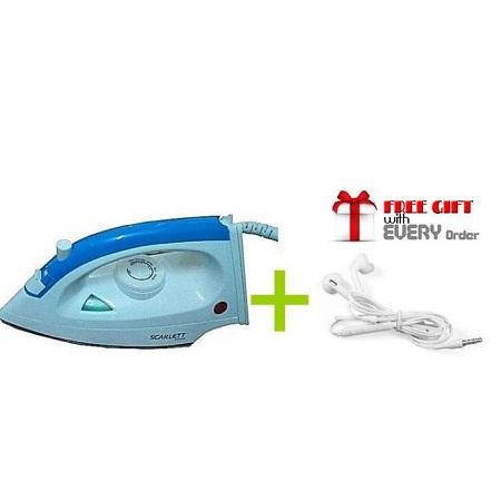 Iron Box - 1200W with FREE S6 EARPHONES White