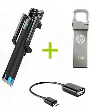 Selfie Stick+16GB Flash + OTG Cable