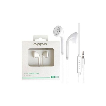 In-Ear Headphone Earphones With Mic (A3s F7 F5 A37 F9 A7 R15 F3) - White