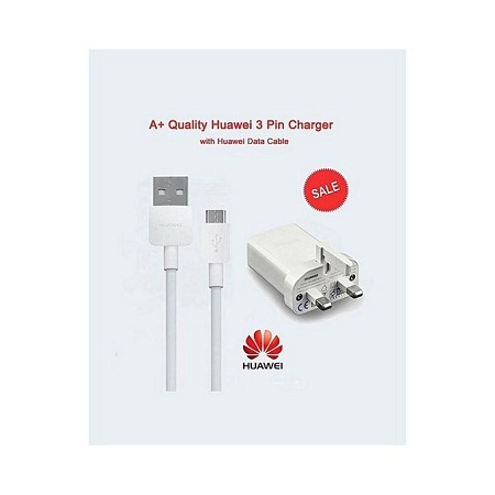 18W Quick Charger 9V 2A Smartphone Data Cable - White